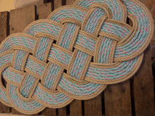 "Rope Rug Blue & Silver Accent 34"" x 15"" - Alaska Rug Company"