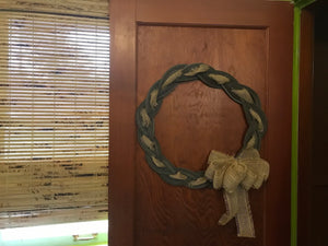"Rope Wreath 24""- Knotted Recycled Rope"