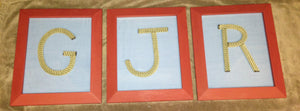 6 Inch Rope Letter / Numbers MADE TO ORDER - Alaska Rug Company