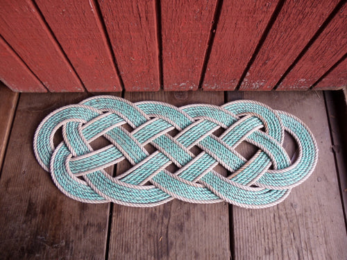 Green & Silver Rope Rug 31