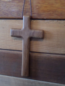 Teak Wooden Cross Wall Hanging