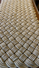 "Tan Cotton Mat 48 x 24"" Rope Rug"