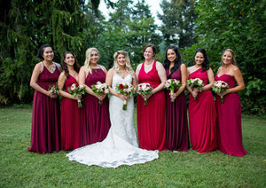 Bridesmaids Style Guide: Long Bridesmaid Dresses