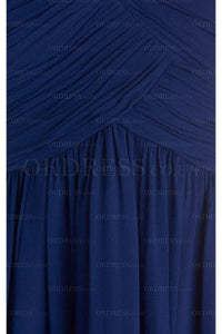 Dark Royal Blue A-line Sweetheart Strapless Long Prom Dresses