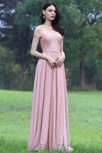 Elegant Chiffon Off-the-Shoulder Bridesmaid Dress