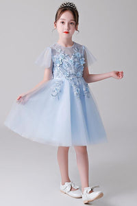 Short Sleeves Flower Girl Dresses