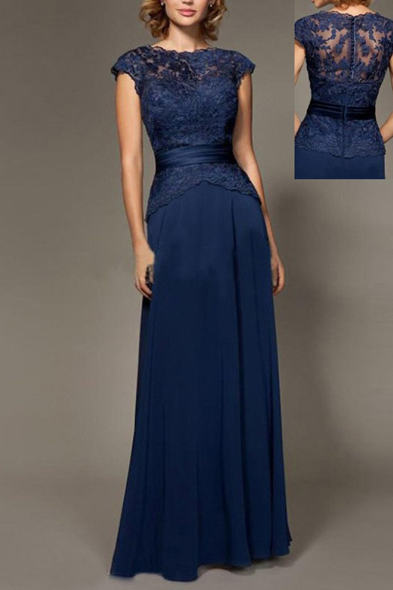Dignified Appliqued A-line/Princess Scoop Neck Prom Dresses