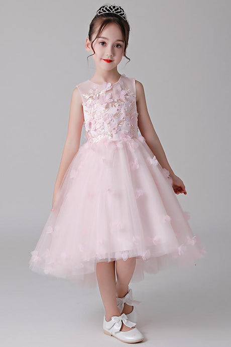 High-Low Sleeveless Flower Girl Dresses