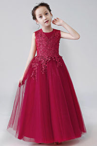 Organza Sleeveless Flower Girl Dresses