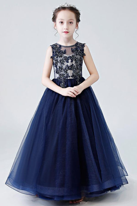 Floor-Length Sleeveless Flower Girl Dresses