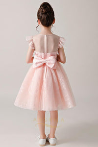 A-Line Flower Girl Dresses with Cap Sleeves