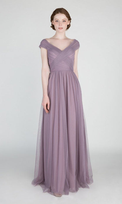 V-neck Long Bridesmaid Dresses
