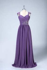 Sleeveless Pleated Chiffon Bridesmaid Dresses