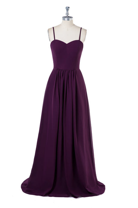 Sleeveless Spaghetti Straps Simple Bridesmaid Dresses