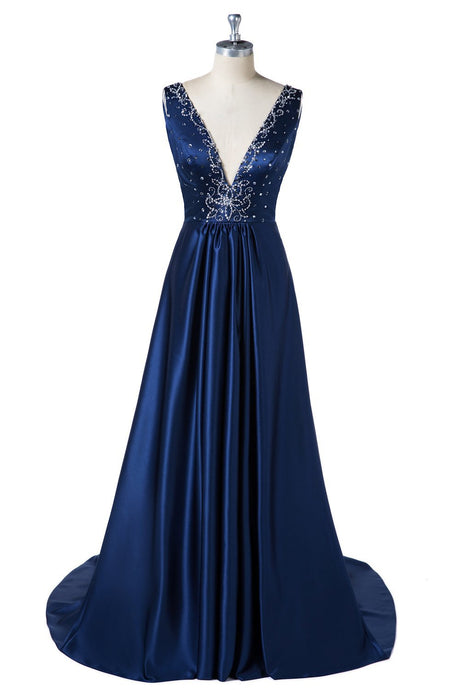 Deep V-Neck Beading Formal Dresses