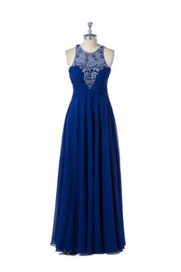 Chiffon Sleeveless Formal Dresses with Beads