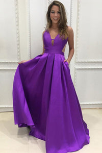 Sleeveless Floor-length V-neck Pleated Natural Zipper Prom Dresses