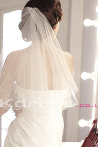 Ivory Fingertip Length Wedding Veils
