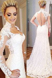 White Captivating Trumpet/Mermaid Sweep Train Pink Zipper Wedding Dresses