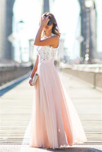 Elegant Lace Sleeveless Zipper A-line/Princess Prom Dresses