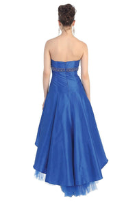 Blue OKdress Long Short Bridesmaids High Low Dress Formal Prom
