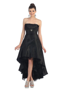 Black OKdress Long Short Bridesmaids High Low Dress Formal Prom