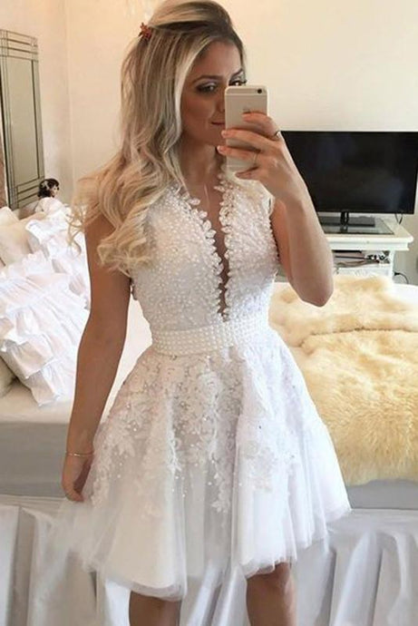 Brova Tulle Natural Appliques Lace Zipper Scoop Prom Dresses