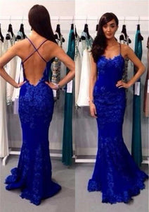 Blue Perfect Sleeveless Natural Long/Floor-length Prom Dresses