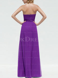 Grape Chic Chiffon A-line/Princess Long/Floor-length Sleeveless Bridesmaid Dresses