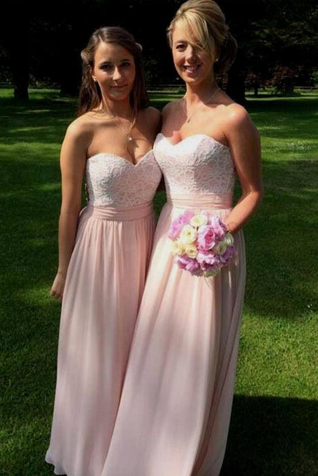 Luxury A-line/Princess Chiffon Applique Dropped Sweetheart Bridesmaid Dresses