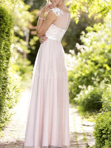 Pink Excellent Covered Button A-line/Princess Tulle Bridesmaid Dresses