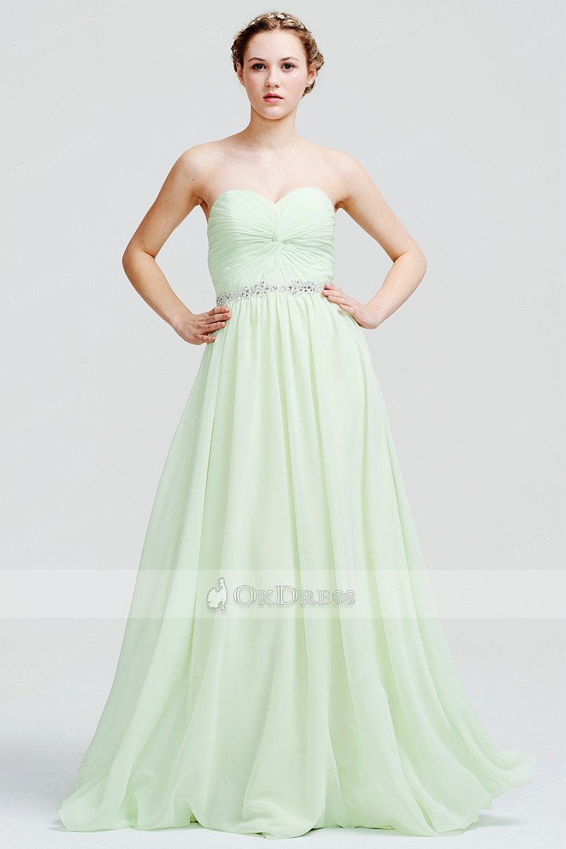 OKdress Strapless Sweetheart Floor-length Prom Dress