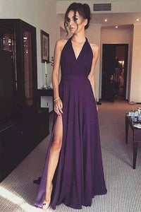 Zipper Regency Chiffon Sleeveless Natural A-line Prom Dresses