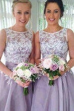 Enchanting Applique Floor-length Taffeta Sleeveless Bridesmaid Dresses