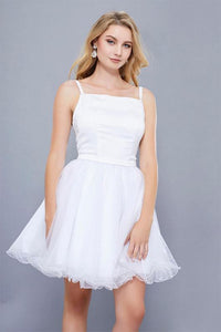 A-line/Princess Spaghetti Straps Sleeveless Short Formal Prom Dresses
