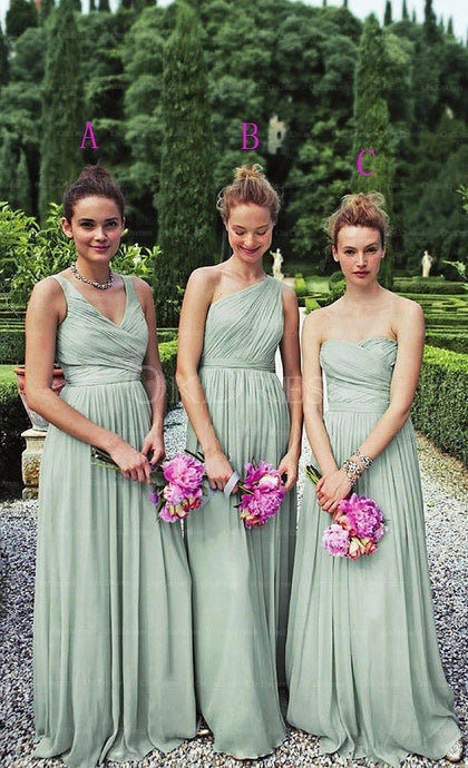Superb A-line/Princess Ruffles Long/Floor-length Bridesmaid Dresses