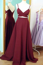 Courtlike A-line Sleeveless Natural V-neck Prom Dresses