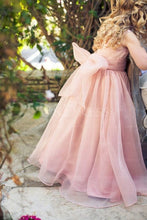 Eye-catching Sashes/Ribbons Scoop Natural Organza Flower Girl Dresses