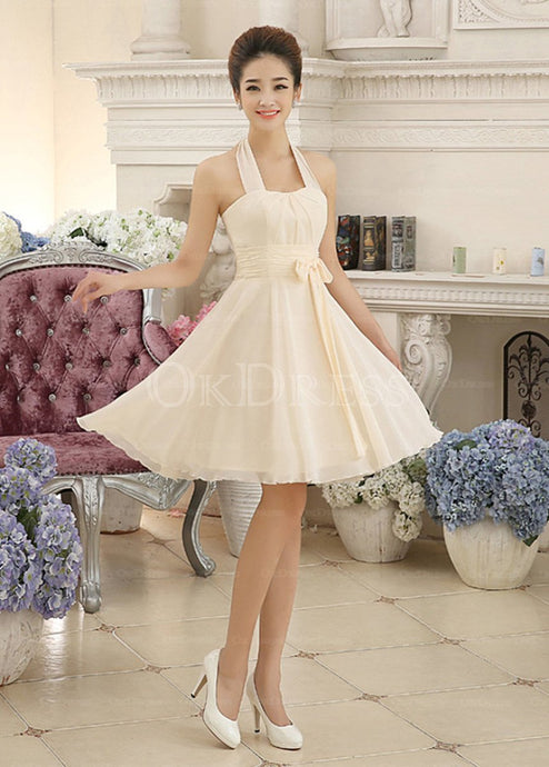 Magnificent Lace-up Short/Mini A-Line Halter Homecoming Dresses