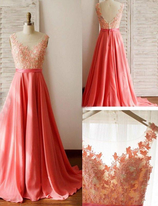 Affordable Sleeveless Natural Zipper Chiffon Coral Bridesmaid Dresses