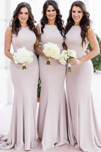 Trumpet/Mermaid Sleeveless Zipper Bridesmaid Dress
