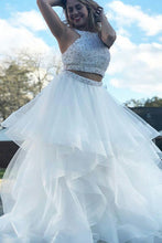 Tulle Beading Sleeveless Floor-Length Prom Dresses