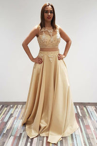 A-Line/Princess Floor-Length Zipper up Sleeveless Prom Dresses