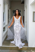 Trumpet/Mermaid  Sleeveless Lace Wedding Dresses