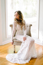 Lace Long Sleeves Floor-Length Wedding Dresses
