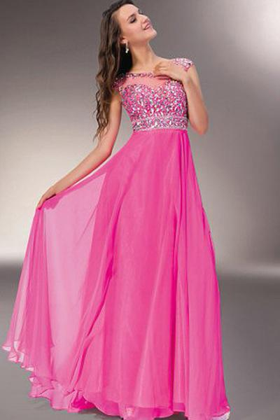 Tactile Long/Floor-length Zipper Up at Side A-line/Princess Chiffon Evening Dresses