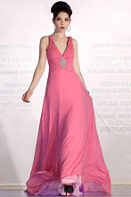 Pink Pleasant Zipper Natural Chiffon Brooch Evening Dresses