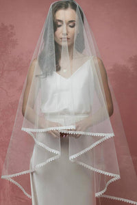 Two Layers Lace Edge Bridal Veils