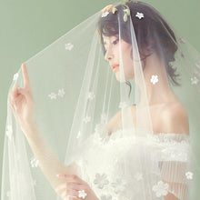 Beautiful Wedding Veil with Flowers