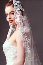 Long Lace Train Wedding Veils